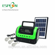 Portable Camping 5W Accueil Solar Power Charger System Accueil LED Kit de lumière solaire