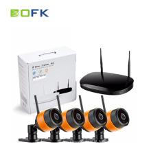 Kit de NVR de segurança sem fio WiFi para segurança em casa