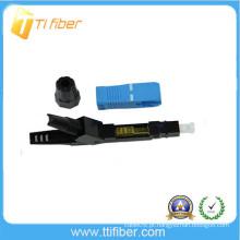 Conector de fibra óptica de emenda rápida SC / UPC