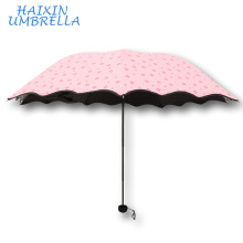 OEM Give You a Sunny Day High Quality Manual Open Promotional Customized Cheap Cute 3 Foldable Small Umbrella For Rain And Sun