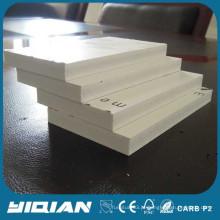 Placa de espuma de pvc plástico branco folha de espuma de pvc de alta qualidade