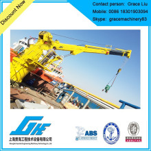 Teleskopischer hydraulischer Deckkran für Marine