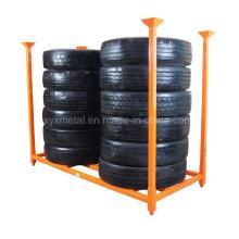 """Rack de armazenamento de empilhamento de pneus de caminhão TBR de 92 """"X 40"""""""