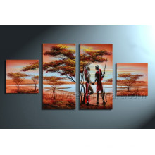 African Couple Oil Painting on Canvas Art (AR-004)