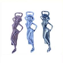 2018 hochwertige benutzerdefinierte Metall sexy Lady Flaschenöffner Rohlinge