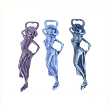 2018 de alta qualidade personalizado Metal Sexy Lady Bottle Opener Blanks