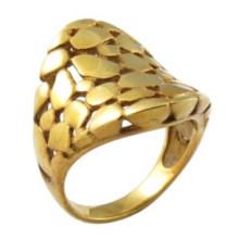 Anillo hueco plateado oro indio del dedo