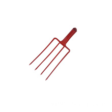 Four Tines Red Coating Digging Fork