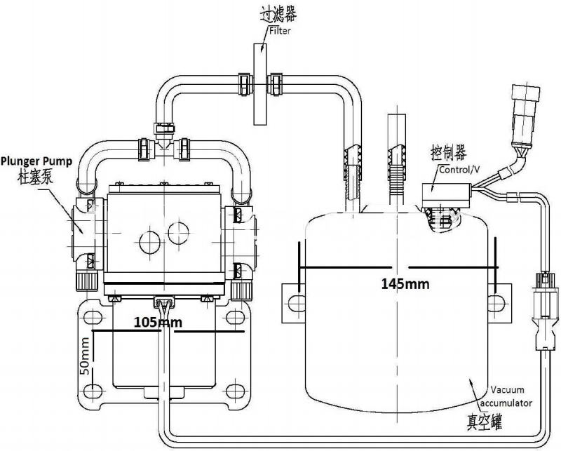Electrical Vacuum Pump Mounting