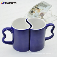 11oz blue magic color change sublimation blank couple mug