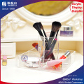 Acrylic Cosmetic Organizer with Brush Holder