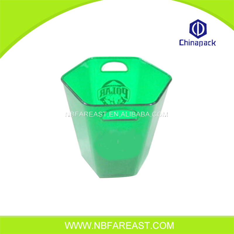 Green color high quality hexagonal ice bucket