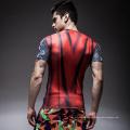 Sublimación personalizada Unisex Lycra Anti-UV Rashguard Hombres MMA Rash Guard