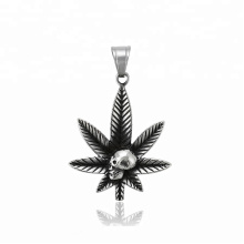 33384 xuping Unique design Stainless Steel jewelry black gun color  skull head pendant