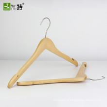 Uniqlo estilo alta qualidade natural madeira camisa cabide