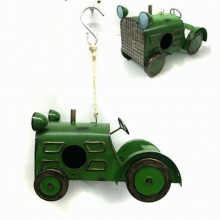 New Arrival Hanging Garden Decoration Metal Tractor Birdhouse Craft