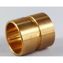 Óleo de cobre sinterizado de cobre / flange dividida oilless envolveu bucha de latão / bronze fundido luva, deslizamento bimetálico bucha de aço de bronze
