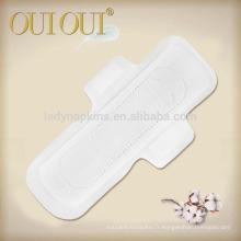 Serviettes hygiéniques souples 100% coton