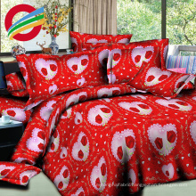 reactive printing bed sheet fabric and cushion covers set