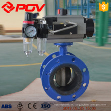 cast iron flange butterfly valves with pneumatic actuator