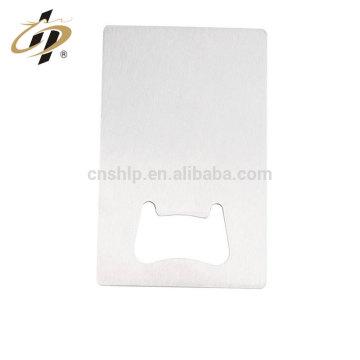China cheap wholesale price stainless steel wine custom blank bottle opener