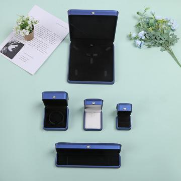 Blue Leather Jewelry Box