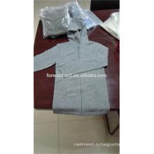 Мода стиль трикотажные унисекс на молнии с капюшоном кашемировый кардиган с двумя карманами