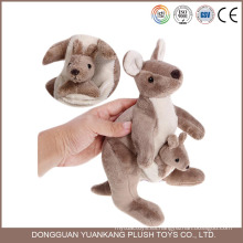 Juguete animal de encargo del 20cm, mini canguro lindo del bebé de Australia para los niños
