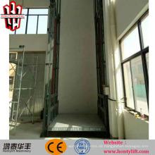 4,5 m 1000 Lastführungsschienenladungsaufzug vertikale Materialhebebühne