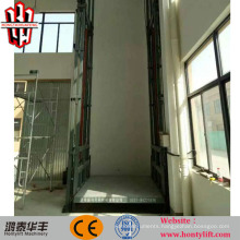 4.5m 1000 load lead rail cargo lift vertical material lift platform