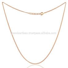 18K plaqué or plat bronze lié bijoux faits à la main à la main de 20 pouces à la main