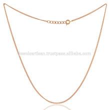 18k позолоченный плоский связаны бронзы ручной работы 20 дюймов обычный кабель цепи ювелирных изделий