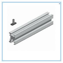 Trilho solar de alumínio com fácil instalação