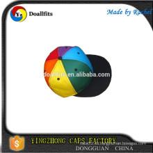 Casquillos de acrílico coloridos del Snapback, casquillos baratos de los deportes del acrílico
