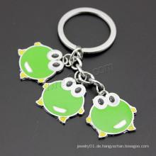 2016 neuer Entwurf grüner Frosch Emaille-Zink-Legierungs-Schlüsselkette