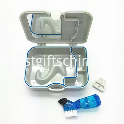 Promotional Square Denture Box With Mirror And Brush_4