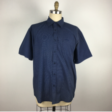 Polka dot short sleeve men Work shirt