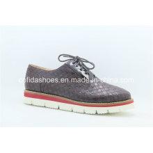 Europea Confort Low Wedge Heel Mujeres Zapatos Casual