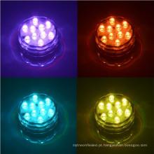 Luz submergível do diodo emissor de luz da luz de 10 submersíveis do BANHO da PISCINA do RGB com controle remoto