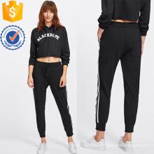 Listra Sweatpants Fita Lateral Fabricação Atacado Moda Feminina Vestuário (TA3087P)