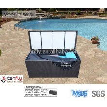 2015 Hot selling all weather wicker/rattan waterproof storage box for wholesale