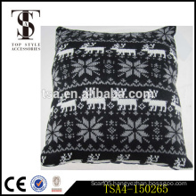 black and white reindeer and snowflake pattern chair cushion pillow for christmas                                                                         Quality Choice