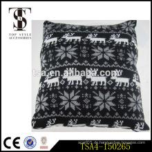 Schwarz-Weiß-Rentier und Schneeflocke Muster Stuhl Kissen Kissen für Weihnachten Qualität Wahl