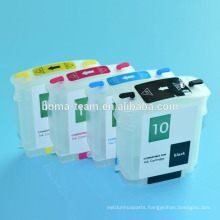 Ink cartridges wholesale For HP 100 110 70 refillable ink cartridge For HP 10 11 with permanent chip