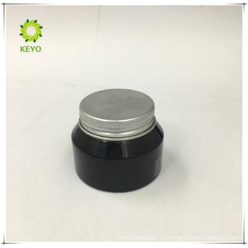 venta al por mayor 30g crema para el cuidado de la piel vacía uso tarro de vidrio cosmético ámbar con tapa de aluminio