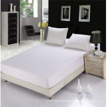 Hotel Supplier High Quality 100% Cotton White Elastic Fitted Sheet (WSFI-2016021)