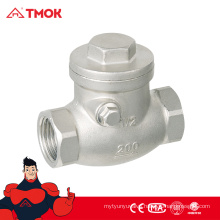"SS316 Cf8m Swing Check Valve Air Non Return Valve from 1/2"" to 2"" in TMOK Valve"