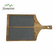 Schieferplatte mit Holzgriff