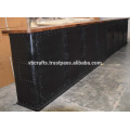Dessus en métal industriel comptoir Bar Top Mango Top en bois