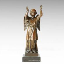 Mythologie Statue Hoffnung / Wunsch Bronze Mythos Skulptur TPE-362